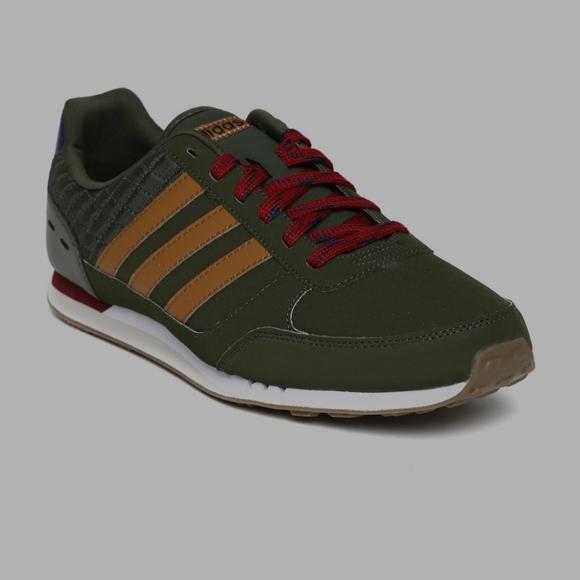 NEW mens adidas neo city racer sneaker green